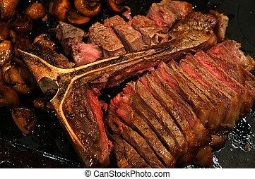 Sliced Grilled T-Bone