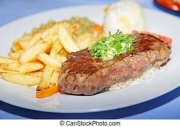 juicy steak  - tasty steak closeup