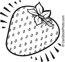 Juicy strawberry sketch