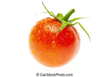 juicy tomato isolated on white