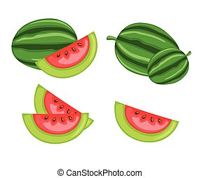 Juicy Watermelon Slices Vector