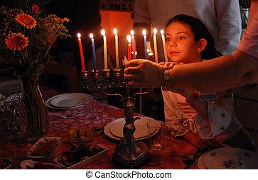 juif, fetes, hanukkah