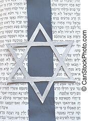 juif, tanach, étoile, fond, david