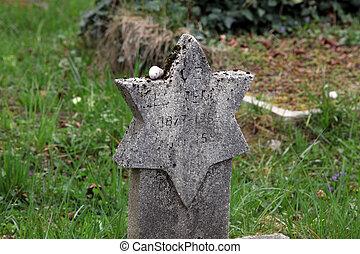 juif, tombes, sur, a, mirogoj, cimetière, dans, zagreb