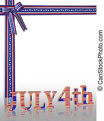 juillet, fond, 4ème, frontière