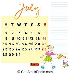 juillet, gosses, 2013