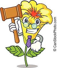 juiz, allamanda, flor, isolado, mascote