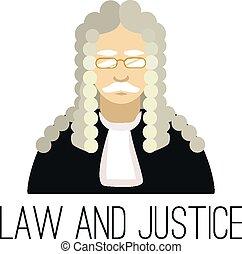 juiz, apartamento, vetorial, ilustração