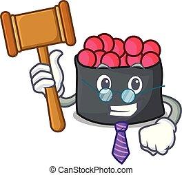 juiz, estilo, ikura, caricatura, mascote