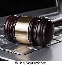 Juiz,  Gavel, conceito, computador