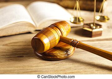 juiz, gavel, parágrafo, sinal, símbolo