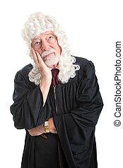 juiz, peruca, aborrecido, -