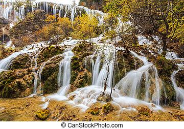 juizhaigou, 国立公園, 滝