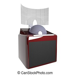 Juke box isolated over white, 3d rendering