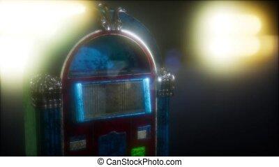 juke-box, sombre, retro