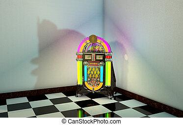 Jukebox - 3D Computer rendered illustration of Jukebox