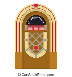 Jukebox icon, cartoon style - Jukebox icon. Cartoon...
