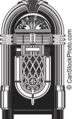 Jukebox - music-playing machine - Jukebox - automated retro...