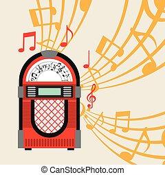 jukebox poster design, vector illustration eps10 graphic