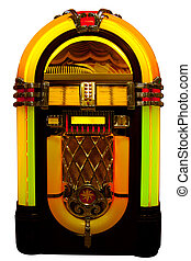 Jukebox - Retro jukebox isolated on white