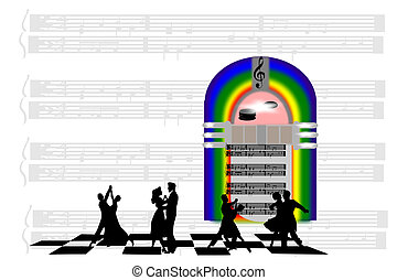 Jukebox Saturday Night - Jukebox with dancers. sheet music...