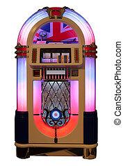Jukebox - Vintage jukebox isolated in white