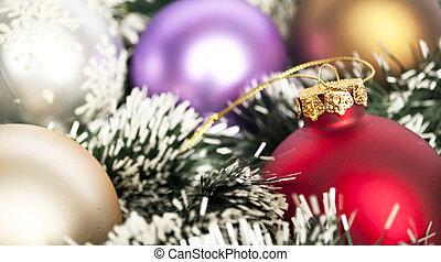 jul, bakgrund, begrepp, -, jul utsmyckning, agremanger