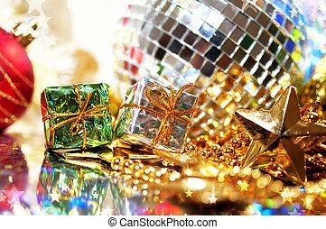 jul, bakgrund, gåva