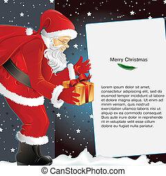 jul, bakgrund, jultomten