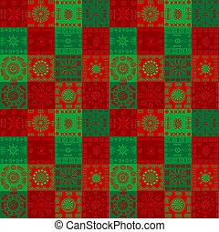 jul, bakgrund, med, etnisk, motiv