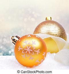 jul, bakgrund, med, klumpa ihop sig