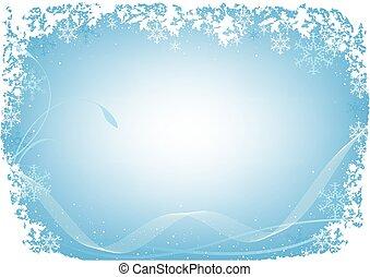 jul, blå, frost