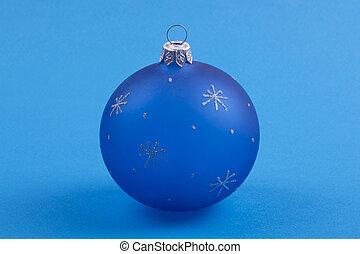 jul, den, boll, på, a, blåttbakgrund