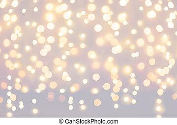 jul, ferier, lys, baggrund