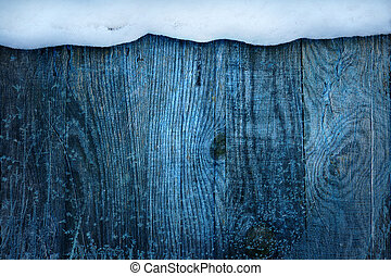 jul, frame;, vinter, blå, snöig, background;
