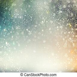 jul, glödande, helgdag, abstrakt, defocused, bakgrund