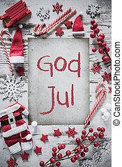 jul, lejlighed, lægge, vertikal, avis, gud, jul, betyder,...