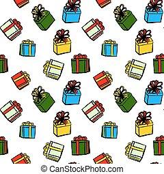 jul, mönster, gåvor