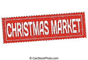 jul, marknaden, grunge, gummi stämpla