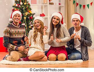 jul, munter, firande