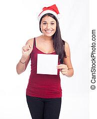 jul, nit signera, kvinna
