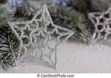 jul, silver stjärna