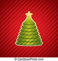 jul, skapande, träd