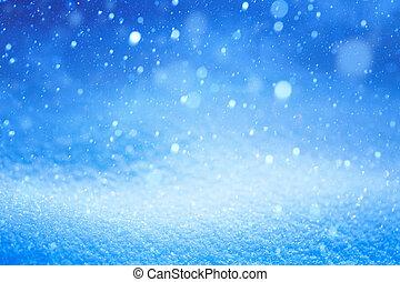 jul, stjärnfall, vinter landskap, snö
