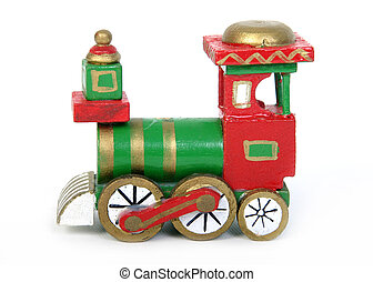 jul, tog, stykke legetøj