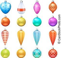 jul, toys, ikonen, sätta