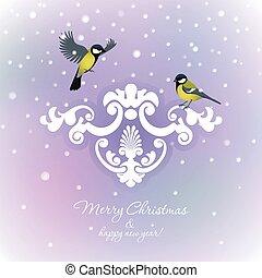jul, två, bakgrund, bröst