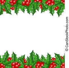 jul utsmyckning, järnek bär, grenverk