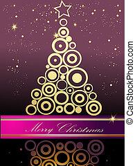 julgran, guld, och, violett