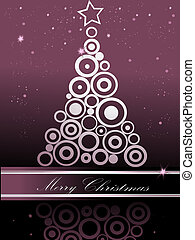 julgran, silver, och, violett